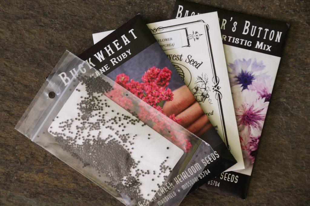 packets of garden seeds