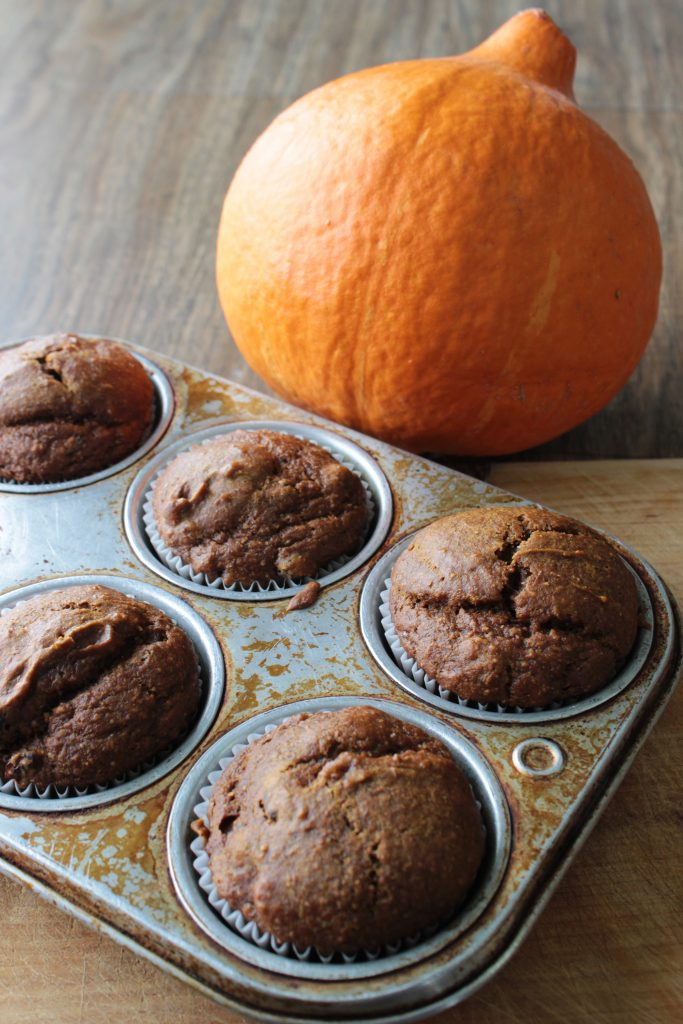 Red Kuri squash, and muffins from our recipe